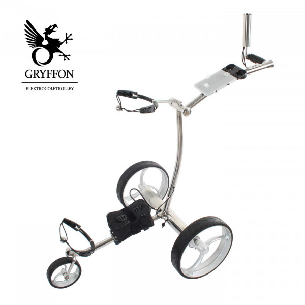 Elektro-Golf-Trolley GRYFFON PROFESSIONAL STEEL Edition 24V Lithium