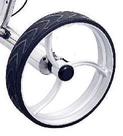 Hinterrad für Golftrolley GRYFFON Steel, silber