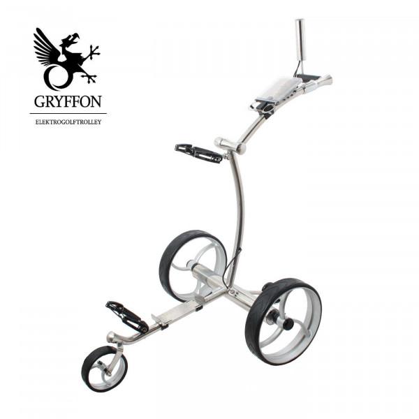 Elektro-Golf-Trolley GRYFFON PROFESSIONAL STEEL Edition mit Fernbedienung / 24V Lithium