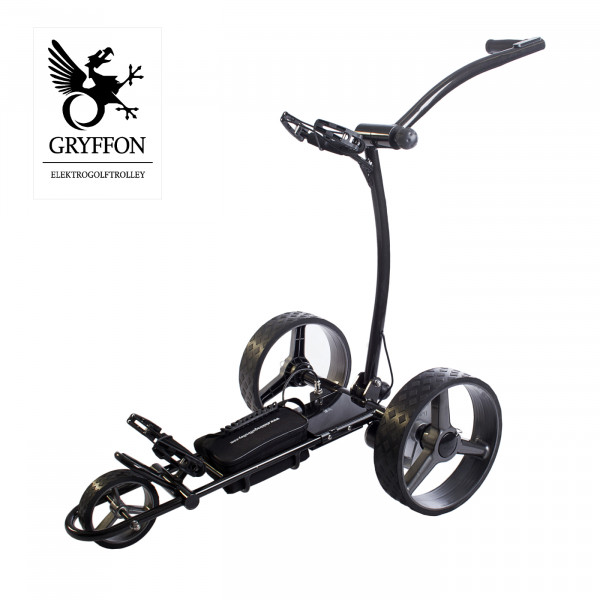 Elektro-Golf-Caddy GRYFFON BASIC mit LITHIUM-Akku inkl. Score- und Regenschirmhalter