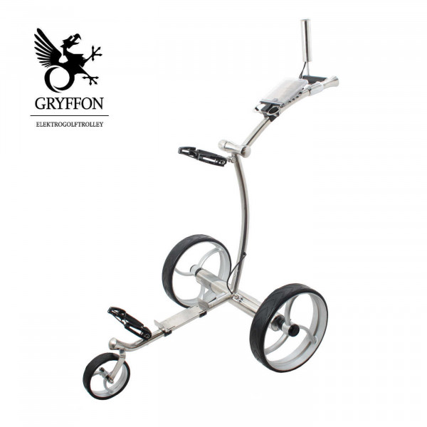 Elektro-Golf-Caddy GRYFFON PROFESSIONAL STEEL Edition 24V Lithium