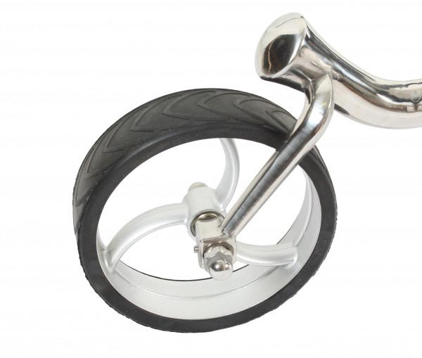 Vorderrad für Golftrolley GRYFFON Steel, silber - Achsdurchmesser 10mm